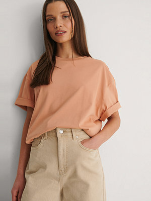 NA-KD Basic Ekologisk Boxig Oversize T-shirt orange