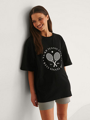NA-KD T-Shirt Med Tennis Club Circle-Tryck svart