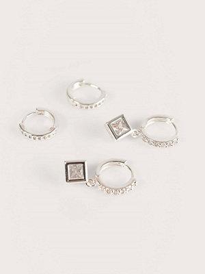 NA-KD Accessories smycke 2-Pack Silverpläterade Hoops silver