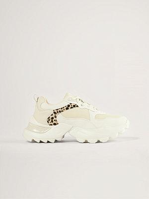 NA-KD Shoes Träningsskor Med Leopardmönster vit