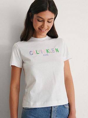 Calvin Klein Ekologisk T-shirt Med Logga vit