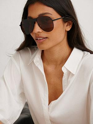 NA-KD Accessories Oversize Pilot Sunglasses brun