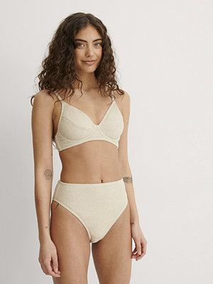NA-KD Swimwear Bikinitrosa Med Hög Midja beige