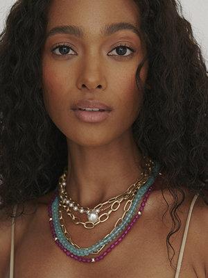 NA-KD Accessories smycke Färgglatt Halsband I Lager multicolor