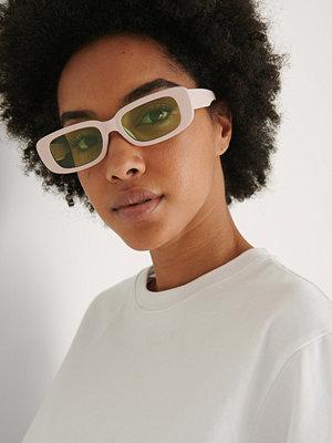NA-KD Accessories Smala Solglasögon beige