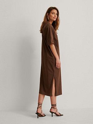 NA-KD Trend Ekologisk Klänning brun