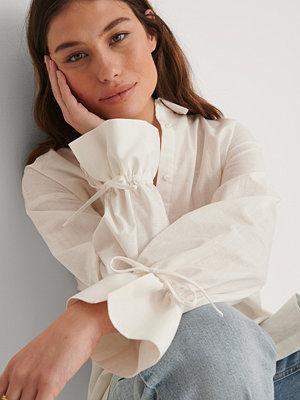 NA-KD Recycled Oversize Skjorta vit