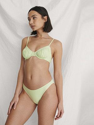 Curated Styles Högt Skuren Återvunnen Bikinitrosa grön