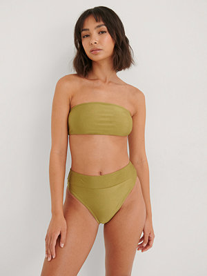 NA-KD Swimwear Skinande Bikinitrosa Med Hög Midja grön