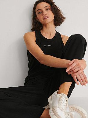 Calvin Klein Micro Branding Tank Top svart