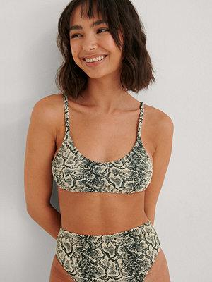 NA-KD Swimwear Ormmönster Bikini-bh Med Rent Snitt beige