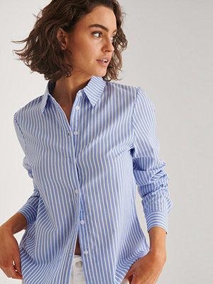 Skjortor - NA-KD Classic Normal Passform Skjorta blå