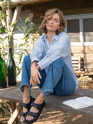 Skjortor - Rianne Meijer x NA-KD Strukturerad Skjorta blå