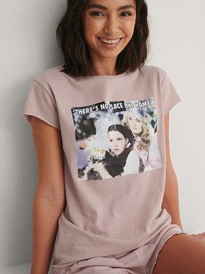 Warner Bros. Ekologisk T-shirt Med Rå Kant rosa