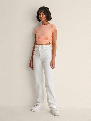 Melissa Bentsen x NA-KD Ekologiska Raka Jeans vit