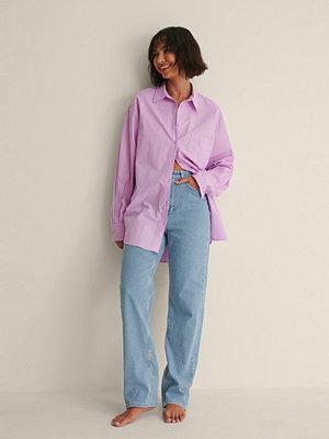 Melissa Bentsen x NA-KD Recycled Oversize Skjorta lila