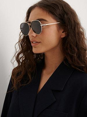 NA-KD Accessories Pilotsolglasögon Med Dubbel Metall svart
