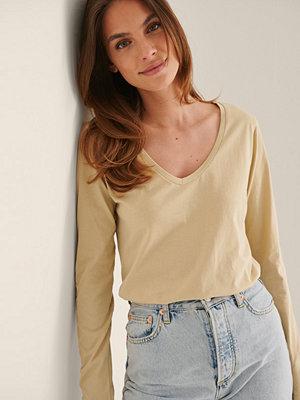 Trendyol Lång Ärm T-shirt beige