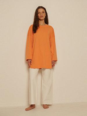 NA-KD Ekologisk Oversize T-shirt Med Sidoslits orange