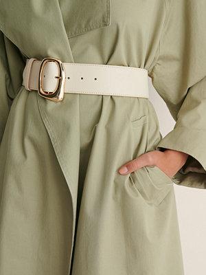 NA-KD Accessories Midjebälte Med Olikformigt Spänne offvit