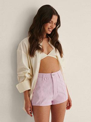 Shorts & kortbyxor - NA-KD Superkorta Denimshorts rosa