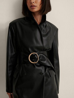 NA-KD Accessories Mjukt Bälte Med Spänne svart