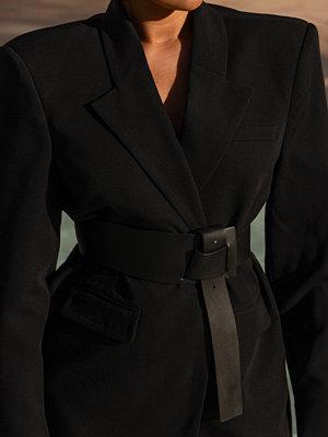 Bälten & skärp - Oumayma x NA-KD Bälte Med Pu-Detaljer svart