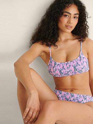 Bikini - NA-KD Swimwear Clean Cut Bikinitopp Med Smock rosa