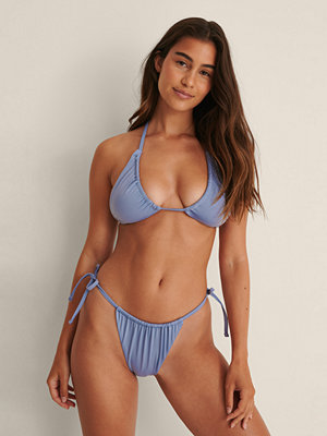 NA-KD Swimwear Recycled Drawstring Tie Side Bikini Panty blå