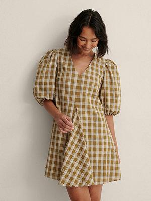 NA-KD Trend Rutig Miniklänning gul