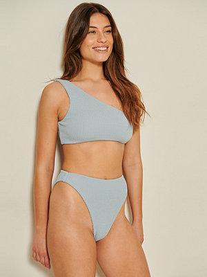 Mathilde Gøhler x NA-KD Recycled Bikinibyxa Med Hög Midja blå