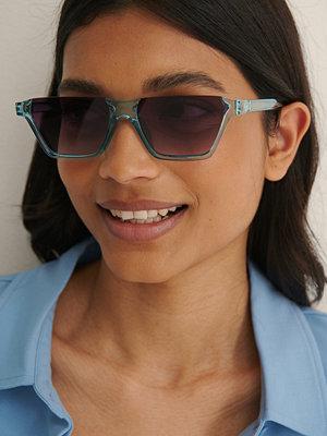NA-KD Accessories Solglasögon Med Öppen Båge blå