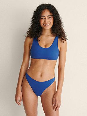 NA-KD Swimwear Högt Skuren Trosa blå