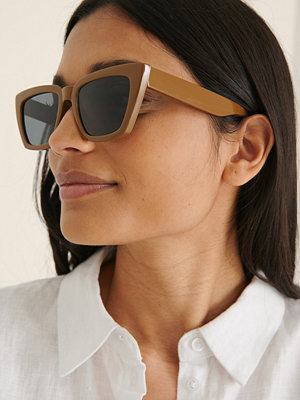NA-KD Accessories Basic Fyrkantiga Solglasögon brun