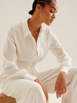 NA-KD Trend Collar Cotton Shirt vit
