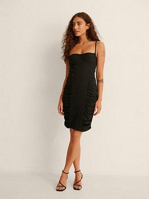 Trendyol Draperad Miniklänning svart