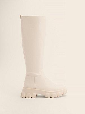 NA-KD Shoes Boots Med Skaft Och Profilsula offvit