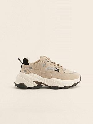 NA-KD Shoes Chunky Gympaskor Med Kontrastdetalj beige