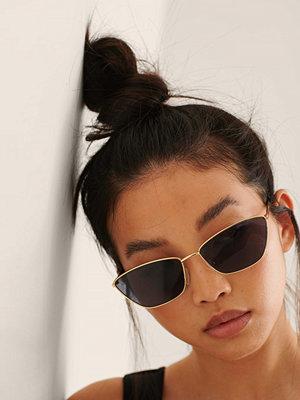 NA-KD Accessories Cateye Solglasögon I Metall svart