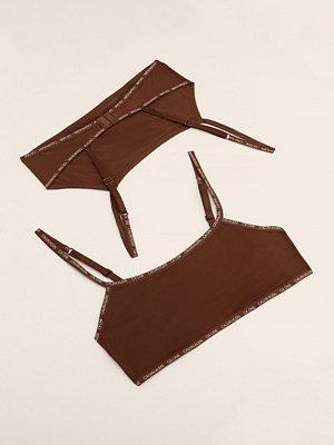 Calvin Klein Ofodrad Bralette 2-Pack brun