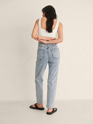 Jeans - NA-KD Trend Ekologiska Raka Jeans Med Hög Midja blå