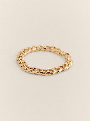 NA-KD Accessories smycke Återvunnet Armband Med Pansarkedja guld