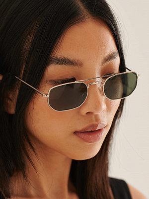 NA-KD Accessories Retro Minisolglasögon guld