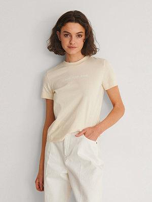 Calvin Klein T-Shirt Med Logga beige