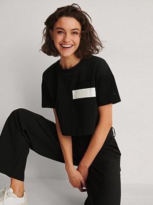 Calvin Klein Logga Crop-topp svart