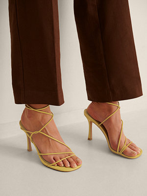 NA-KD Shoes Högklackade Skor Med Rund Tå grön