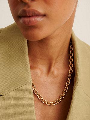 NA-KD Accessories smycke Återvunnet Halsband Med Rund Kedja guld
