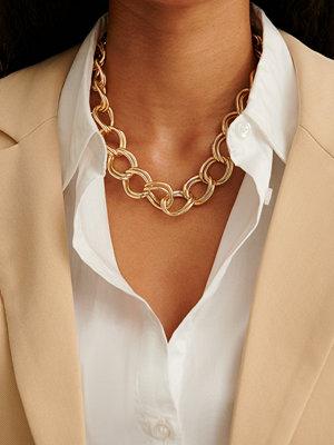 NA-KD Accessories smycke Återvunnet Halsband Med Dubbel Rund Kedja guld