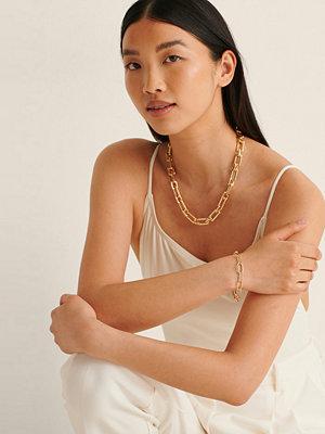 NA-KD Accessories smycke Återvunnet Ovalt Kedjearmband guld
