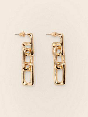 NA-KD Accessories smycke Återvunna Rektangulära Kedjeörhängen guld